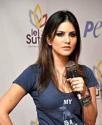 Sunny Leone - Leone at the PETA's stray dog adoption campaign
