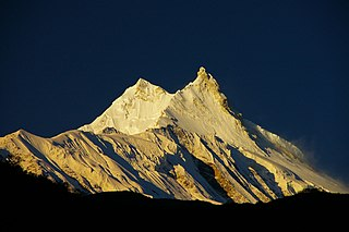 Manaslu Mountain in Nepal