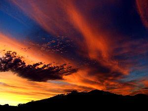 Какого цвета небо ночью