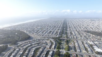 Sunset District, San Francisco - The Outer Sunset from a drone