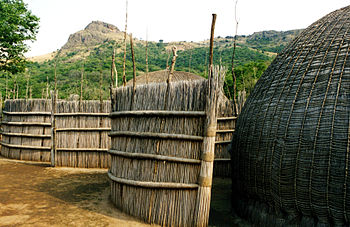 Traditional homes in Swaziland and still widel...