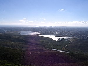 Sweetwater Reservoir - Sweetwater Reservoir as seen from San Miguel Mountain in 2006