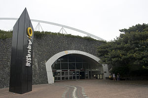 Sydney International Aquatic Centre - Image: Sydney Olympic Park Aquatic Centre entrance