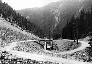 Sylvan Pass (Wyoming) - Image: Sylvan Pass Loop 1922