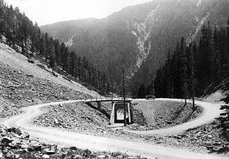 Sylvan Pass (Wyoming) - Image: Sylvan Pass Loop 1922