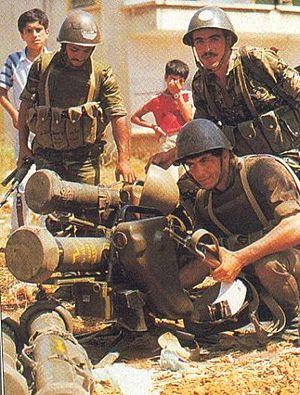 Syrian Army - Syrian anti-tank teams deployed French-made MILAN ATGMs during the war in Lebanon in 1982.