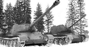 T-44 - Second of the two first generation T-44-85 prototypes and T-44-122 prototype during comparative trials