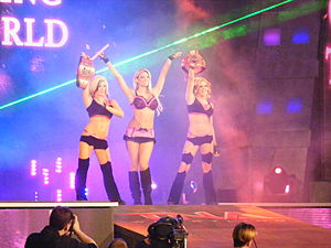 Madison Rayne - The Beautiful People as the TNA Knockouts Tag Team Champions in 2009