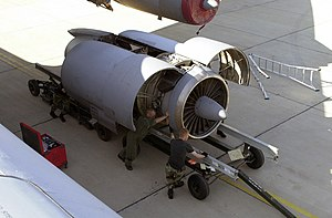 Pratt & Whitney JT3D - TF33-P-7 engine of a C-141B