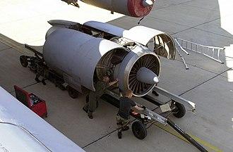 Pratt & Whitney JT3D - TF33-P-7 engine of a C-141B