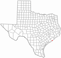 Location of Jones Creek, Texas