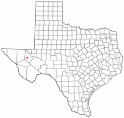 Location of Toyah, Texas