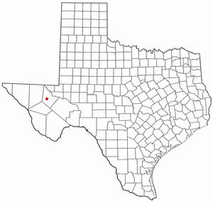 Toyah, Texas - Image: TX Map doton Toyah