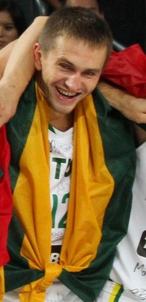 BC Šiauliai - Tadas Klimavičius, one of that time primary BC Šiauliai players, who won three LKL bronze medals sets.