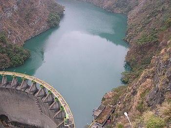 "The ""Jung Hua"" Dam on the ""Da Han"" River in Taoyuan County, Taiwan"