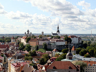 Toompea - View of Toompea hill from the tower of St. Olaf's church