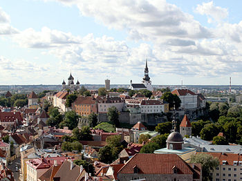 5e015ddc370 View of Toompea hill from the tower of St. Olaf's church