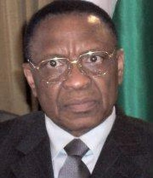 National Movement for the Development of Society - President of Niger Tandja Mamadou on a state visit to Nigeria, 2007.