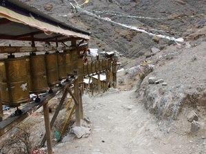Kora (pilgrimage) - Kora circuit around Tashilhunpo monastery in Shigatse, Tibet.