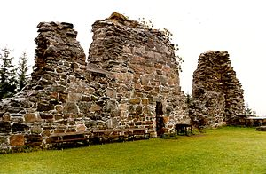 Tautra Abbey -  North wall of Tautra Abbey