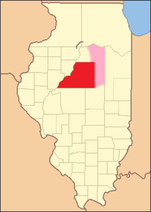 Tazewell County, Illinois - Image: Tazewell County Illinois 1827