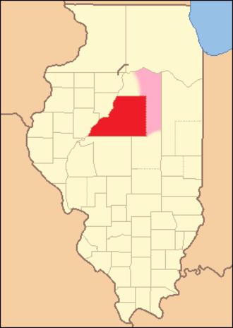 Tazewell County, Illinois - Image: Tazewell County Illinois 1827