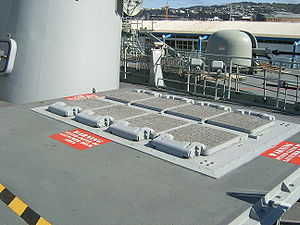 HMNZS Te Mana (F111) - The Mark 41 vertical launch system fitted to Te Mana
