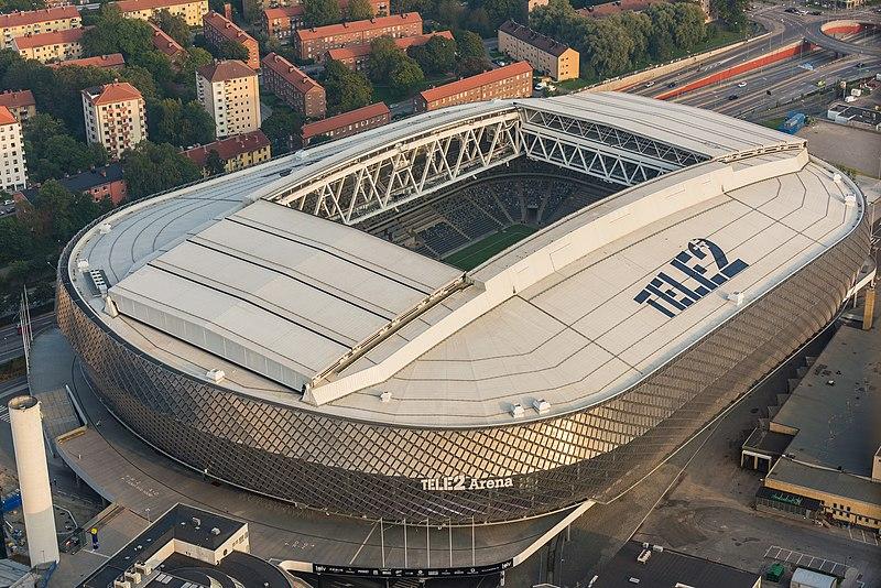 De Tele2 Arena in Stockholm