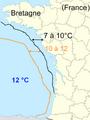 Température de la mer janvier 2009.png