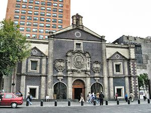 Corpus Christi Church, Mexico City - Image: Templo Corpus Cristi Mexico City