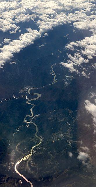 Tenryū River - From the air, 2016