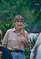 Terri Irwin during a TV show at the Zoo (10106813226).jpg