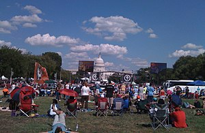 Evangelicalism in the United States - The Call rally in 2008, Washington, D.C.. United States Capitol in the background.