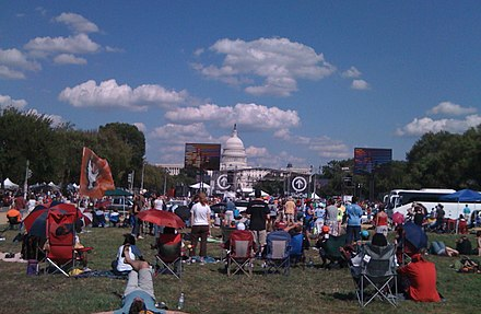 The Call rally in 2008, Washington, D.C.. United States Capitol in the background. TheCallStage.JPG
