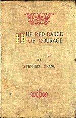 First edition cover of The Red Badge of Courage