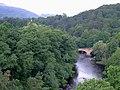 The Afon Dyfrdwy from the Pontcysyllte Aqueduct near Llangollen - geograph.org.uk - 1250787.jpg