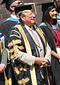 The Chancellor and Vice-Chancellor of Brunel stand ready with some graduates (7637454146) (Wakeham cropped).jpg