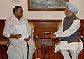 The Chief Minister of Andhra Pradesh, Shri Y.S. Rajasekhara Reddy calling on the Prime Minister, Dr. Manmohan Singh, in New Delhi on May 18, 2007.jpg