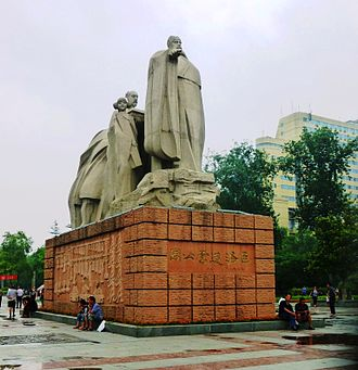 Luoyang - Statue of the Duke of Zhou who founded a city here c. 1036 BC