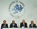 The Foreign Secretary, Shri Shiv Shankar Menon interacting with the media, in L'Aquila, Italy on July 08, 2009.jpg
