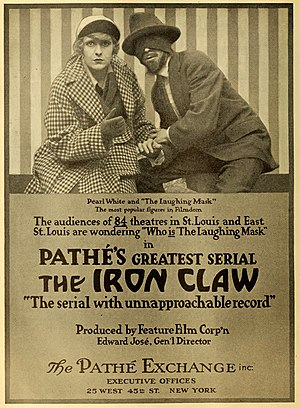 Pearl White - White in an advertisement for The Iron Claw (1916) in The Moving Picture World