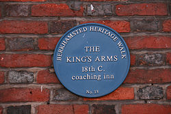 The king%27s arms blue plaque