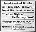 The Last Night of the Barbary Coast 1914 newspaper ad.jpg