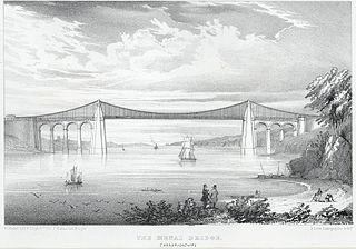 The Menai Bridge, Carnarvonshire