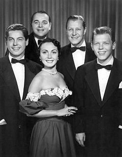 The Modernaires when they were regulars on the CBS radio program Club Fifteen, 1951.