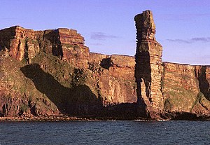 Scandinavian Scotland - The Old Man of Hoy, a prominent landmark on the sea journey from Stromness on Mainland Orkney to Caithness