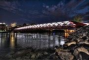 The Peace Bridge in Calgary an HDR photo