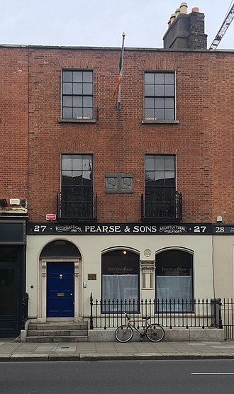 Margaret Mary Pearse - The Pearse family home in 27 Great Brunswick Street, in Dublin.