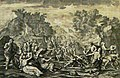 The Phillip Medhurst Picture Torah 401. The Israelites collect manna. Exodus cap 16 vv 14-17. Le Clerc.jpg