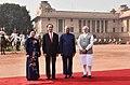The President, Shri Ram Nath Kovind and the Prime Minister, Shri Narendra Modi with the President of the Socialist Republic of Vietnam, Mr. Tran Dai Quang, at the Ceremonial Reception, at Rashtrapati Bhavan, in New Delhi (1).jpg